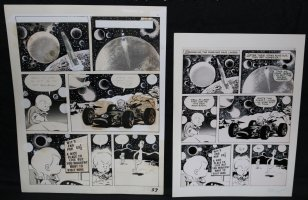 Lunar Tunes p.35 - LA - Comes with Pre Press Page - Wood's Last Comics Work Comic Art