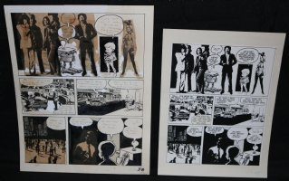 Lunar Tunes p.40 - LA - Comes with Pre Press Page - Wood's Last Comics Work - Rolling Stones and Jane Fonda Comic Art