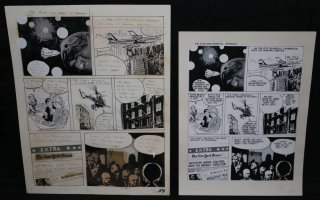 Lunar Tunes p.41 - LA - Comes with Pre Press Page - Wood's Last Comics Work Comic Art