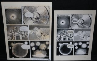 Lunar Tunes p.44 - LA - Comes with Pre Press Page - Wood's Last Comics Work Comic Art
