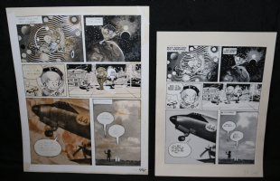 Lunar Tunes p.46 - LA - Comes with Pre Press Page - Wood's Last Comics Work Comic Art