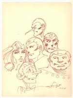 Metal Men Team Portraits Drawing - 1975 Signed Comic Art
