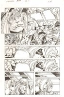 Avengers #27 p.3 - Thor and Ms. Marvel - 2012 Comic Art
