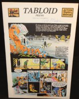 The Spirit Tabloid Press - 1973 Signed Comic Art