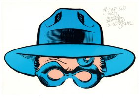 The Spirit Uncut Unworn Undaunted #1 of One Mask - Signed Comic Art
