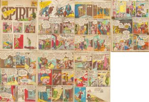 The Spirit Oct 3, 1948 7 Page Story Color Grid Complete  Comic Art