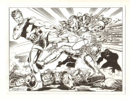 Magnus, Robot Fighter vs. Ultrons Commission - 2004 Signed Comic Art