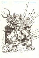 Firepower Design art for Armor Wars Storyline - 2007 Signed Comic Art