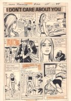Young Romance #203 p.47 - 'I Don't Care About You' One Pager - 1975 Comic Art