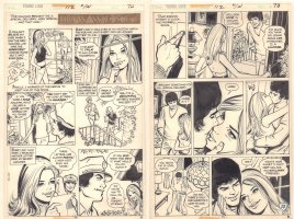 Young Love #112 p.74 - 'How We Met' Two Page Story - 1974 Comic Art