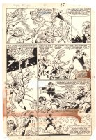 Alpha Flight #30 p.18 - Team Action vs. Scramble - 1986 Signed Comic Art