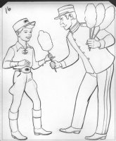 Circus Boy Micky Dolenz of the Monkees Coloring Book Art Comic Art