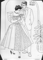 Elizabeth Taylor Coloring Book Art - with husband and flowers Comic Art