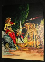 Sci-Fi Hero and Babe vs. Alien Monster Painted Art - Al Feldstein Cover Recreastion  Comic Art