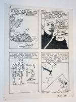 Newt Reptile Story Page - Bob Dylan App - 1988 Signed by Leela Comic Art