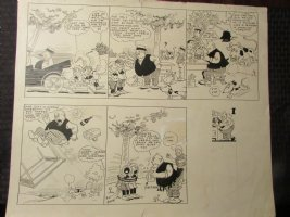 1930 Heinrich Sunday Comic Strip by Dean 20.5x17 LA Comic Art