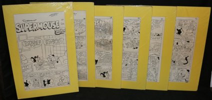 Supermouse, the Big Cheese #37 - 'Shop Worn' Six Page Story - LA - 1956 Comic Art