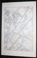 Dallas Star #1 p.4 - Hero vs. Villain Aerial Battle Comic Art