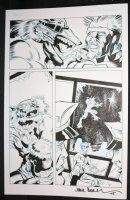 Wild p.5 - Wolfman Hero defeats Villain - 2015 Signed by Jack ? Comic Art