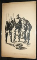 3 Men and a Cobra Pulp Illo - 1931 Signed by Slawson? Comic Art