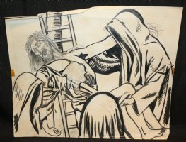 Talking Jesus Down From the Cross Drawing  Comic Art