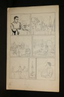 Sci-Fi (Buck Rogers) Unfinished Pencil Page - LA - Spaceship Launching - 1940's Comic Art