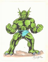 Abomination Color Commission - 2000 Signed by David ? Comic Art