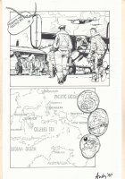 Unknown Title War Page - Pacific Theatre Map - Signed art by Andy ? Comic Art
