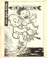 Ace Comics #136 Cover - Ocean Fun - 1948 Comic Art
