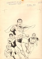 Superboy and the Legion of Super-Heroes Latin America Cover - LA - Channeling Curt Swan - 1969 Signed Comic Art