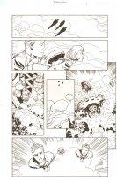 Establishment, The #7 p.3 - All Golden Action vs. Spaceships - 'Walking Dead' Artist - 2002 Comic Art