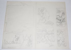 Bat Last #2 pgs. 18 & 19 DPS - Action Interior Pencil Layouts Comic Art