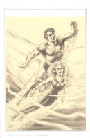 Aquaman and Mera Print with Touch Ups - 2006 Comic Art