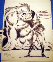 Beauty & The Beast 11x14 Nudity Comic Art