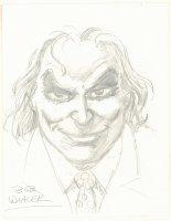 Joker Pencil Portrait - Signed Comic Art