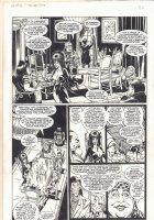Elvira ''The Haunting'' p.26 - Seance - Signed Comic Art