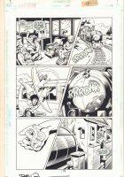 Green Lantern #107 p.16 - Train Action - 1998 Signed Comic Art