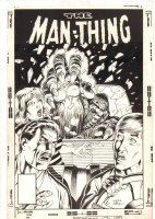 Man-Thing #6 Unpublished Cover - 1980 Signed Comic Art