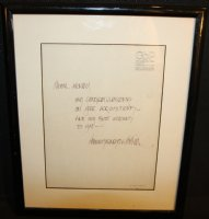 Letter from Barry Windsor-Smith Comic Art