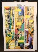 Eternal Warrior #6 p1-5 Painted Color Guides - Valiant - 1993 Comic Art