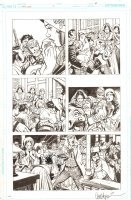 Bat Lash #? p.6 - Wedding Fight - Signed Comic Art