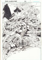 JLA: Classified #21 p.2 - JLA vs. The Hypotheticals Action Splash - 2006 Comic Art