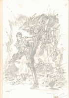 Demolition Man Movie Unused Pencil Piece #3 - Sylvester Stallone - 1993 Signed Comic Art
