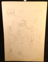 In the Royal Chamber of the Kaglon's Regent Pencil Piece Comic Art