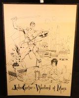 John Carter, Warlord of Mars - LA - 1975 Signed Comic Art