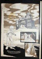 Cap'n Quick & a Foozle #? p.12 - LA - Eclipse Comics - Surreal Haunted House Splash - 1984 Comic Art
