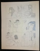 Egyptian Sexy Nude Babe Pencil Page  Comic Art
