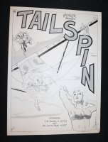 Bachelor Magazine Presents: Tailspin - Adult Cover PRage - 1973 Signed Comic Art