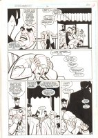 Batman Adventures #36 p.20 - Batman, Robin, Rupert Thorne, and Hugo Strange - 1995 Comic Art