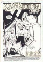 Batman Adventures #25 p. 1 - 'Super Friends' Title Splash - 1994  Comic Art